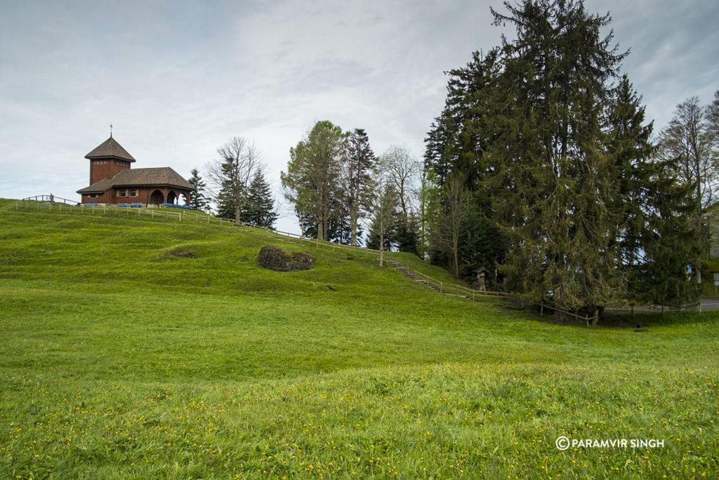 Church in the meadows...