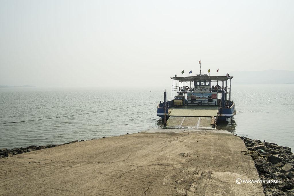 Ferry across creek