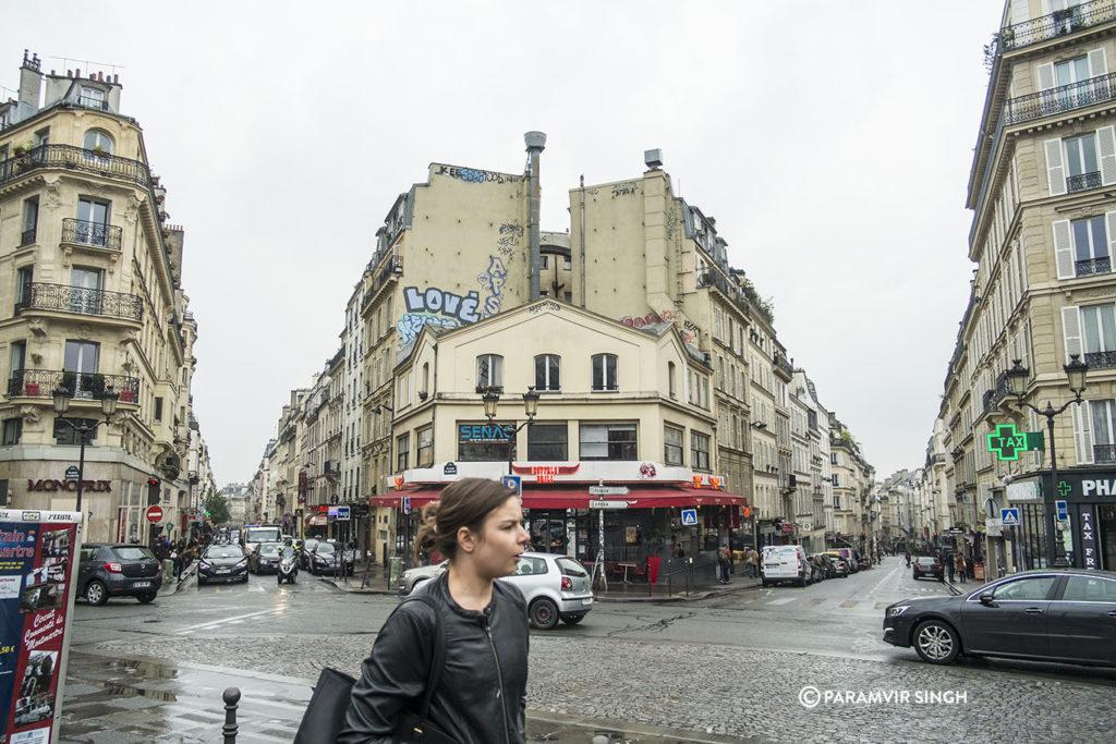 At the Boulevard de Clichy, Paris