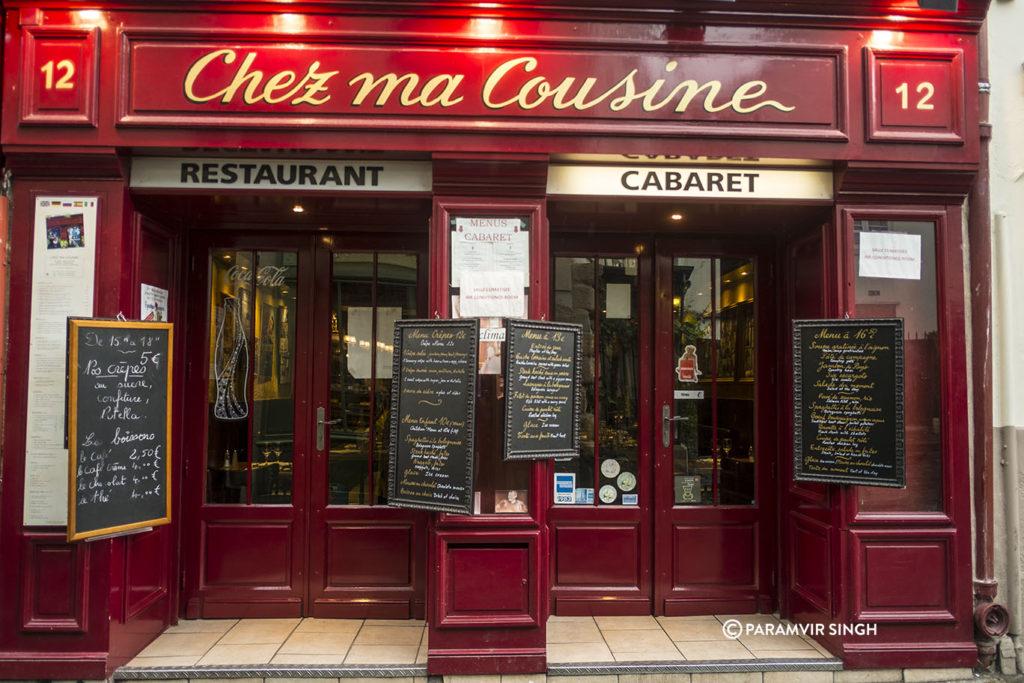 Chez ma Cousine, Montmartre, Paris