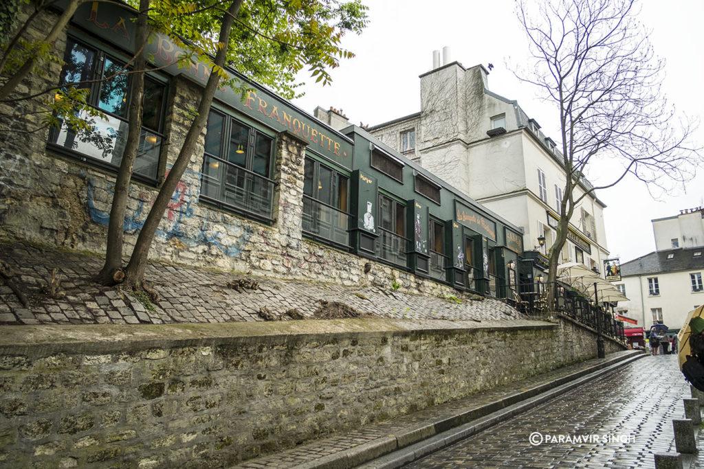 Walking downhill from Montmartre