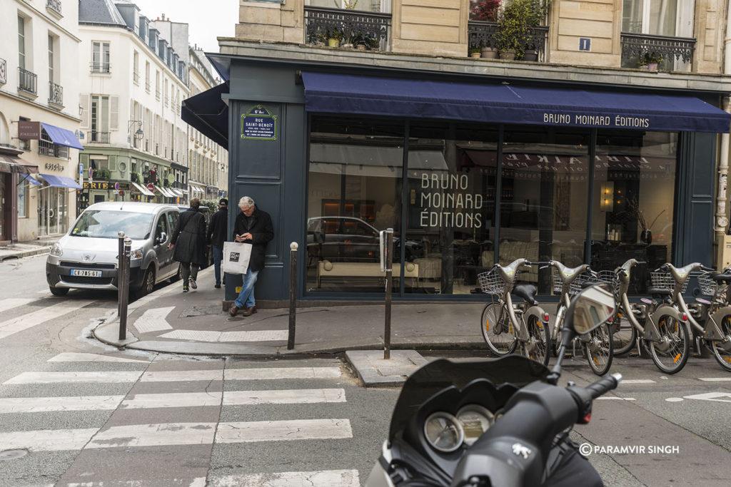 A street in Paris.