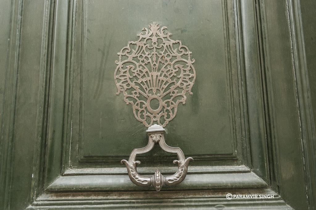 Ornamental door knob in Paris