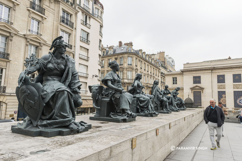 Admiring the sculptures at the Musée d'Orsay,