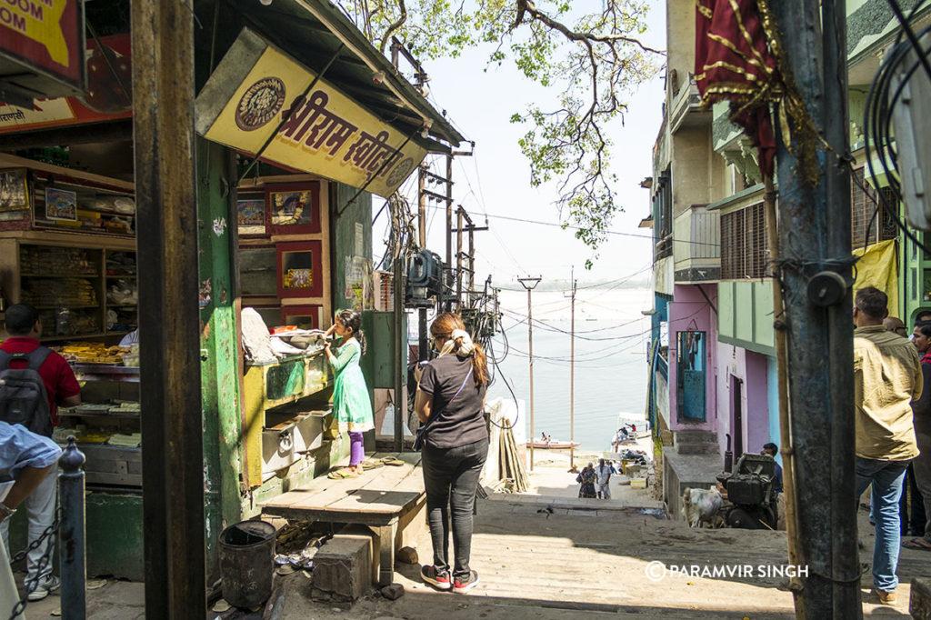 A typical Benaras sweet shop.