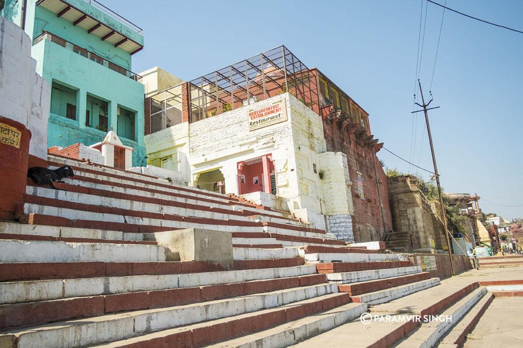 Steps in teh ghats of Benaras