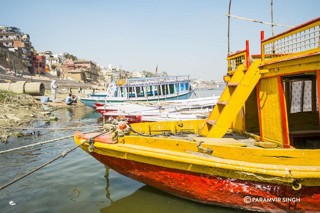 Boats on Benaras.
