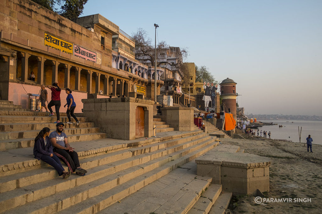 Riva Ghat in Benaras