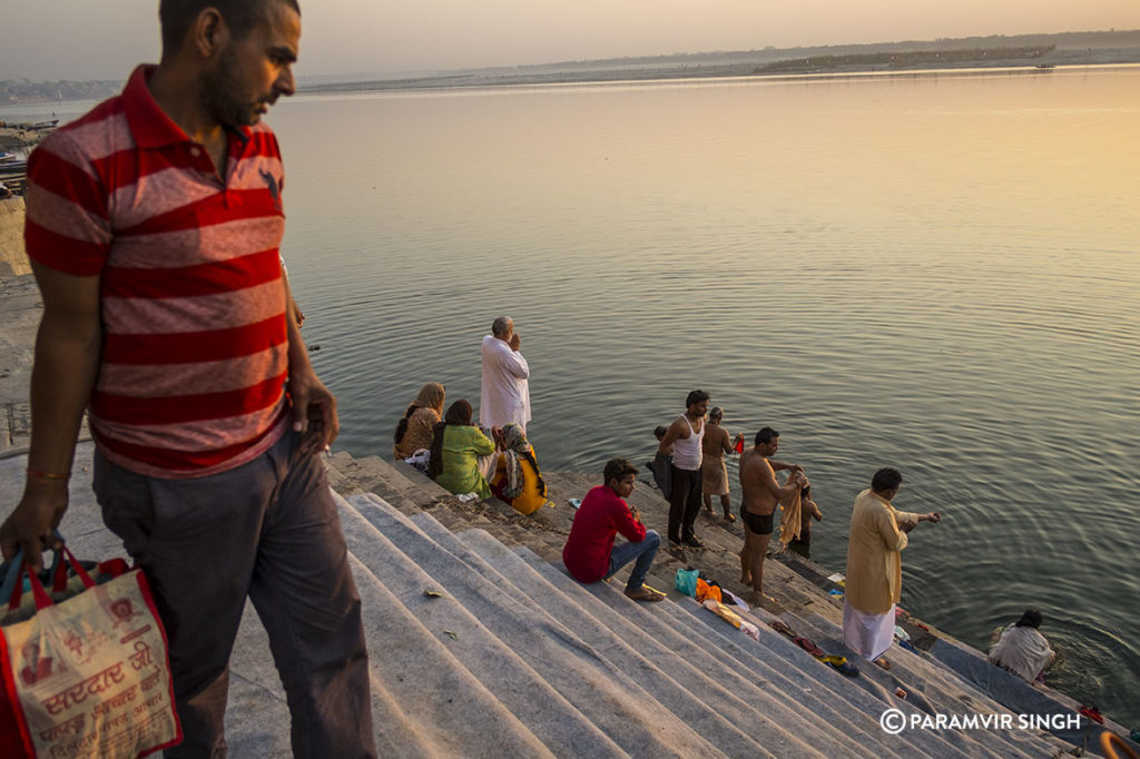 Rituals by the Ganges at the Ghats of Benaras