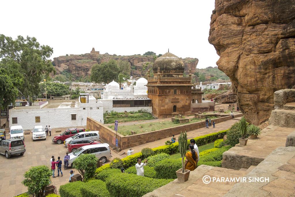 Badami Temple Parking Lot