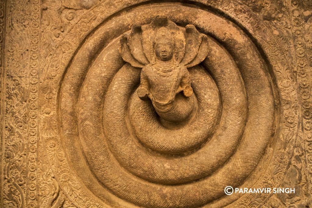 Nagaraja in Cave 1 of Badami cave Temples