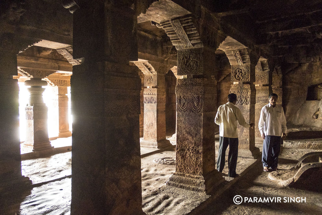 Hall of Cave 1, Badami Cave Temples