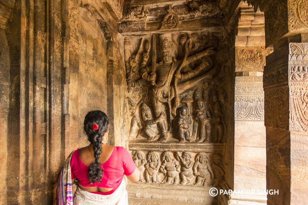 Trivikarma Vishnu in Cave 2 of Badami Caves