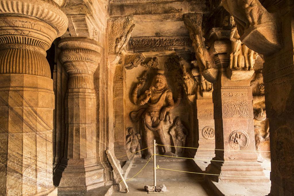 Narasimha in Cave 3 of Badami Caves