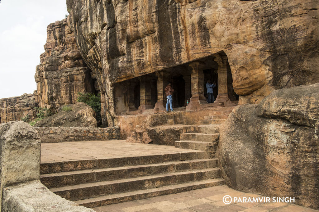 Entering Cave 4 of Badami caves