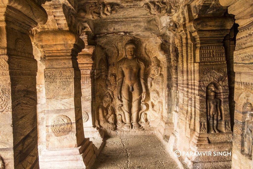 Bahubali in Cave 4 of badami caves