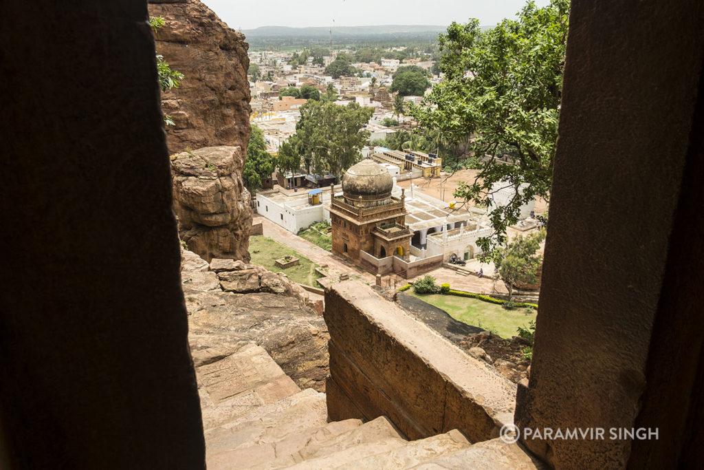 Badami Cave Temple Complex View