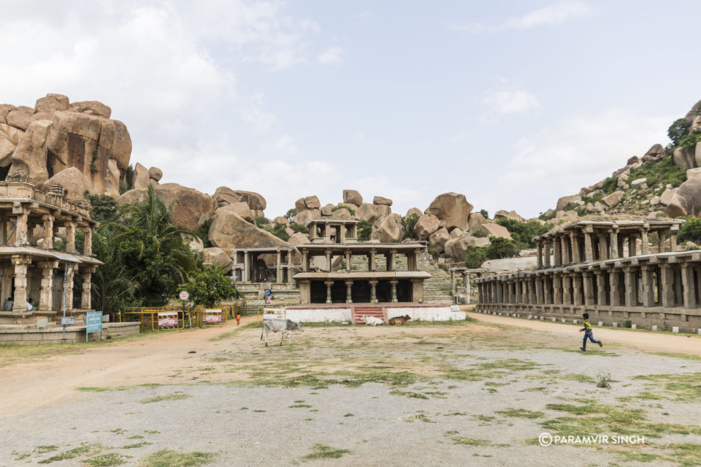 Hampi Bazaar at Sri Virupaksha Temple