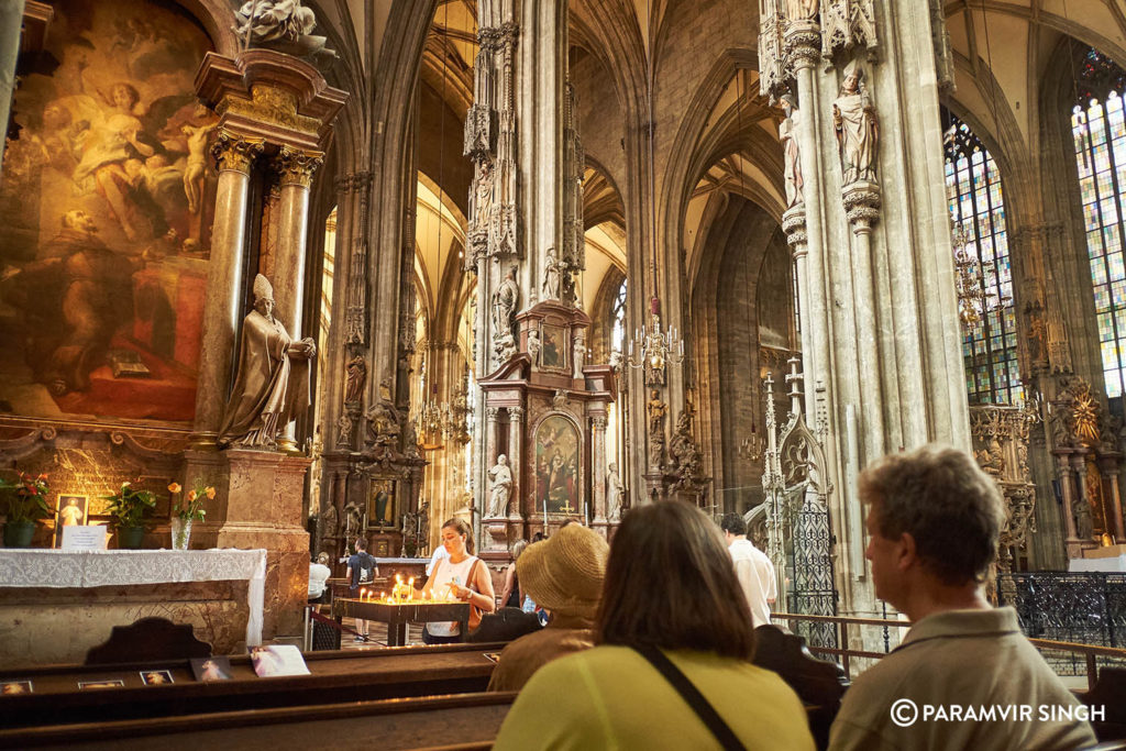 Inside Stephansdom Curch, Vienna