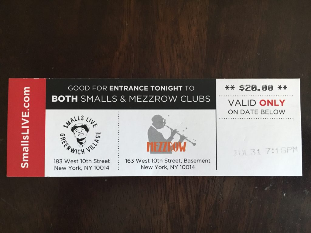 Smalls NYC Ticket