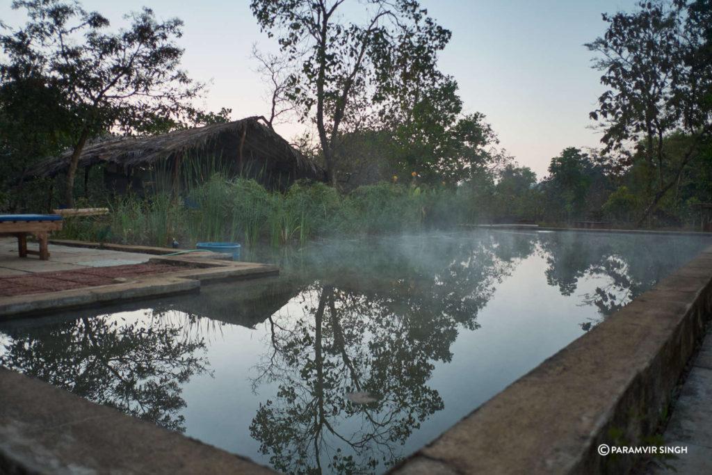 Mist On Pool in Goa