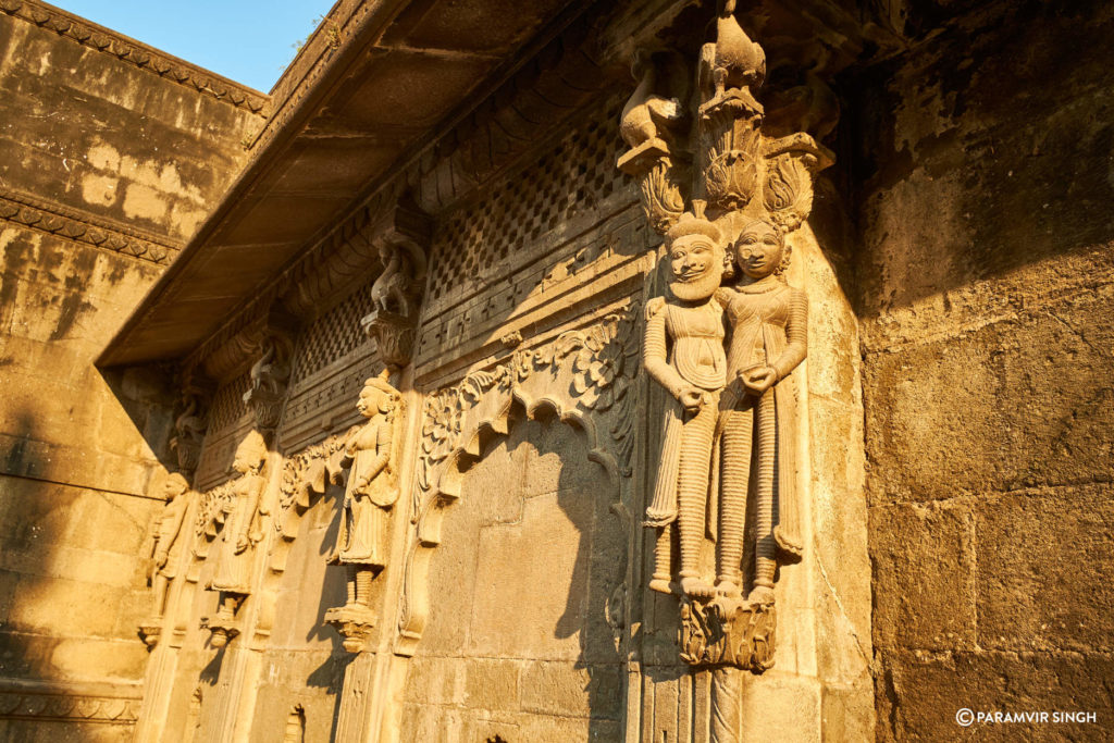 Sculpture of Couple on Maheshwar Temple